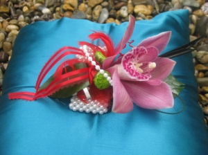 With a twist and a turn I will create a Debs corsage with a difference.